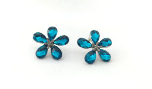 Blue Petal Earrings