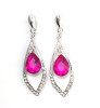 Uptown Earrings - Pink Dangle Earrings